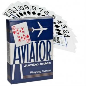 Aviator Jumbo pokerio kortos (Mėlynos)