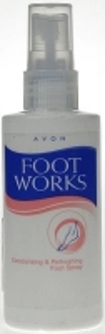 Avon Foot Works Foot Spray Cosmetic 100ml Kojų priežiūros priemonės
