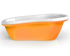 BABY Vonia balta Oranžinė Kūdikių maudynėms
