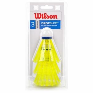 Badmintono plunksnelės WILSON WRT6048WH yellow Badmintono muselės