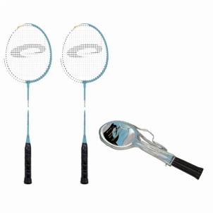 Badmintono raketės FIT ONE mėlynos Badmintono rinkiniai