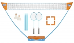 Badmintono rink. GET & GO Instant blue/orange Badmintona komplekti