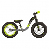 Balansinis dviratukas Scool pedeX 1- black/yellow matt 12 Balansiniai dviratukai