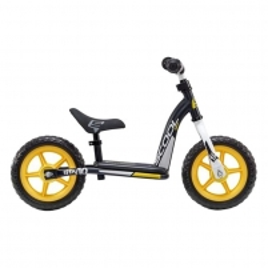 Balansinis dviratukas Scool pedeX easy 10- black/yellow matt 10 Balansiniai dviratukai