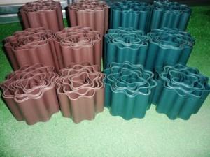 Banguota užtvarėlė, 9m x20cm Plastikinės sodo tvorelės, borteliai, tinkleliai