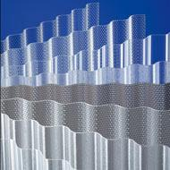 Banguotas akrilo lakštas-korys 3x1045x2000 mm (2,09 kv.m) skaidrus Pvc un polikarbonāta loksnes