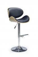 Bar chair H44 šviesus ąžuolas/black Bars and restaurant chairs