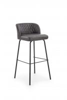 Baro kėdė H92 tamsiai pilka