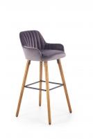 Bar chair H93 tamsiai pilka Bars and restaurant chairs