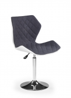 Baro kėdė MATRIX 2 balta/pilka Baro, restorano kėdės