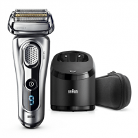 Shaver Braun Men's Electric Foil Shaver 9290cc Wet use, Rechargeable, Charging time 1 h, Lithium Ion, Battery, Silver
