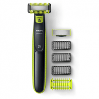 Barzdaskutė Philips Shaver OneBlade QP2620/20 Cordless, Charging time 8 h, Operating time 45 min, Wet use, NiMH, Number of shaver heads/blades 1, Green/Grey Barzdaskutės