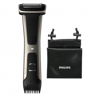 Barzdaskutė Philips Showerproof body groomer BG7025/15 Body groomer, Cordless, Number of length steps 5, Rechargeable, Lithium-ion, Operating time 80 min, Charging time 1 h, Black/Stainless