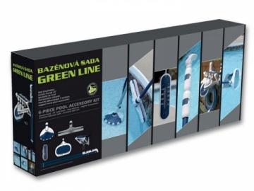 Baseino valymo rinkinys Green Line Baseinų valymo įrankiai