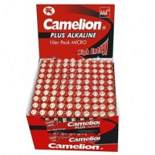 Baterija Camelion Plus Alkaline AAA (LR03) Display Box (20x10pcs) Shrink Pack, 1170mAh Fotoaparatų krovikliai/ baterijos