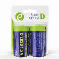 Baterija Energenie Alkaline D-cell battery LR20, 2-pack, blister Baterijos, elementai, įkrovikliai