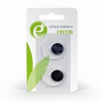 Baterija Energenie Button cell CR1220, 2-pack, blister Baterijos, elementai, įkrovikliai