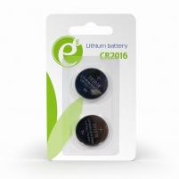 Baterija Energenie Button cell CR2016, 2-pack, blister