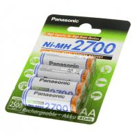 Panasonic Rechargeable Battery 4x AA BK-3HGAE (2700mAh)