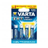 Baterijos Alkaline Batteries VARTA R3 (AAA) 4pcs High Energy/Longlife Power Baterijos, elementai, įkrovikliai