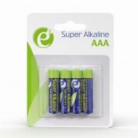 Baterijos Energenie Alkaline LR03 AAA batteries, 4-pack, blister Baterijos, elementai, įkrovikliai