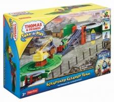 Konstruktorius BCX24 Fisher Price THOMAS & FRIENDS Take-n-play PORTABLE RAILWAY Geležinkelis vaikams