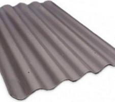Non-asbestos slate sheets 875x920 'Baltijos banga' brown Non-asbestos slate