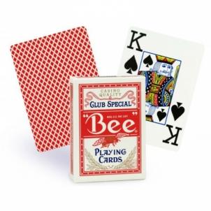 Bee Jumbo pokerio kortos (Raudonos)