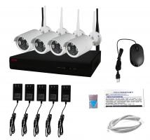 Belaidė tinklinė vaizdo įrašymo sistema WiFi NVR Kit PMX 4CH+4 vnt. 1080P kamerų Vaizdo įrašymo įrenginiai