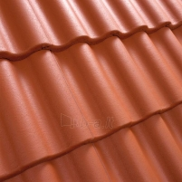 Benders Palema concrete roof tile, (Clay Red)