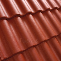 Benders Palema concrete roof tile, (Red)