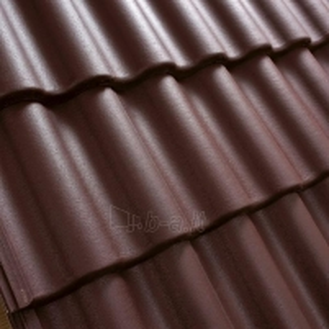 Benders Palema concrete roof tile, (Burgundy)