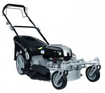 Gas electric scarifier lawnmower 2.61kW Grizzly BRM 56-161 BSA Q-360 PREMIUM