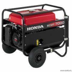 Benzininis generatorius Honda ECMT 7000 Benzininiai elektros generatoriai