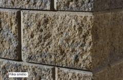 Concrete fence block A-1 (pilka -smėlio)