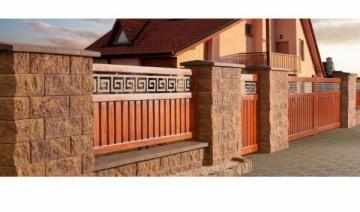 Betoninis tvoros stulpo blokelis A-2 (galimybė rinktis spalvą) Tvoros stulpo elementai