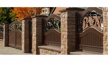 Betoninis tvoros stulpo blokelis G2 (galimybė rinktis spalvą) Tvoros stulpo elementai