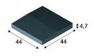 Concrete fence canopies (double pitched) E11 35x35x7,5 cm Concrete fencing canopies