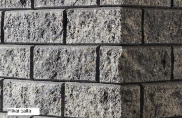 Betoninis tvoros stulpo elementas Matas L (baltai pilkas)