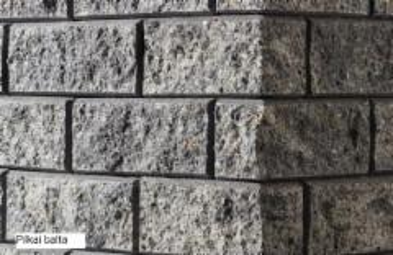 Betoninis tvoros stulpo elementas Matas L (baltas)
