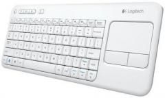 Bevielė klaviatūra Logitech K400 Plus white (US International) jutiklinė