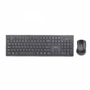 Bevielis rinkinys: pelė ir klaviatūra Gembird Slim, US layout, Juoda, nano imtuv Klaviatūros