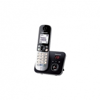 Bevielis telefonas Panasonic Cordless KX-TG6821FXB Black/Silver, Wireless connection, Speakerphone, Caller ID, Conference call, Built-in display Bezvadu tālruņi