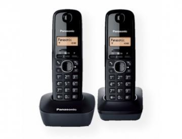 Bevielis telefonas Panasonic KX-TG1612FXH Cordless phone, Black Bevieliai telefonai