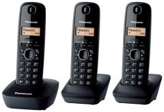 Bevielis telefonas Panasonic KXT-TG1613JTH black Bevieliai telefonai