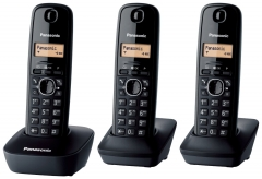 Bevielis telefonas Panasonic KXT-TG1613JTH black Wireless phones