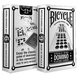 Bicycle Double Nine Domino kortos