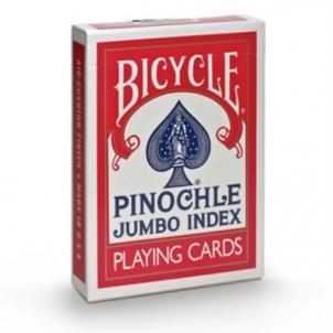 Bicycle Pinochle kortos (Raudonos)