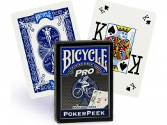 Bicycle Pro Poker Peek pokerio kortos (Mėlynos)
