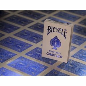 Bicycle Rider Back Metal Luxe kortos (Mėlynos)